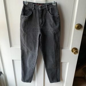 Vintage High Waisted Faded Grey Mom Jeans